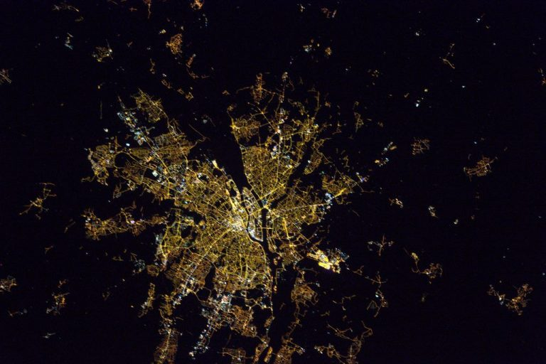 Nantes vue de l'espace, par Thomas Pesquet