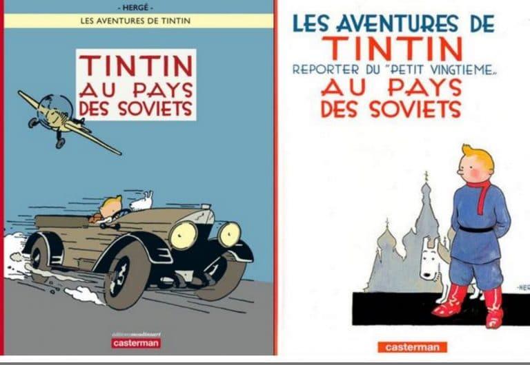 Tintin au pays des Soviets. L'album en couleur au top des ventes Amazon