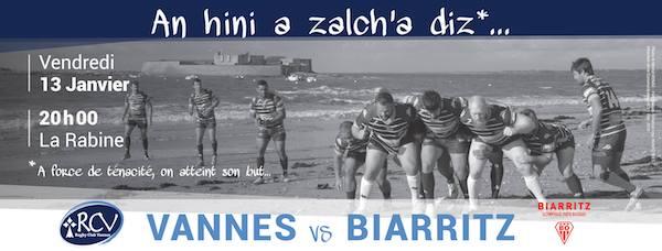 Rugby. RC Vannes : mettre Biarritz dans les cordes pour souffler un peu
