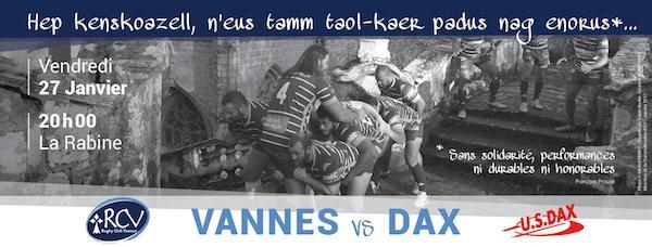 RC Vannes : état d'urgence à la Rabine contre Dax !