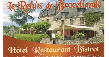 Carte de visite Relais de Brocéliande