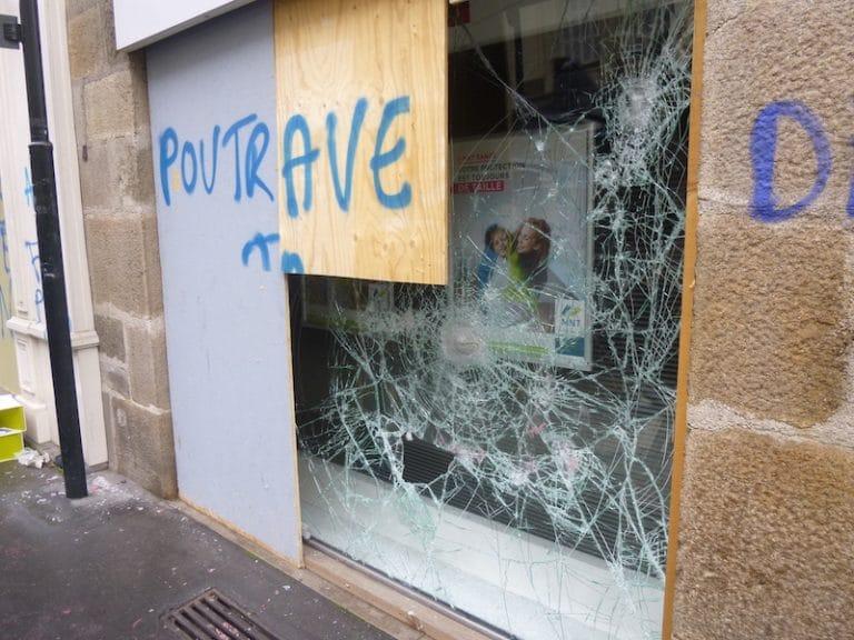 Après les saccages du samedi 25 février en centre-ville de Nantes les syndicats craignent de payer les pots cassés
