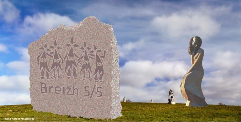 Carnoët (22). Bientôt une stèle « Breizh 5 sur 5 » à la Vallée des Saints ?