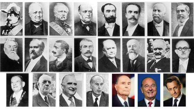 France. Les Présidents, de 1870 à nos jours