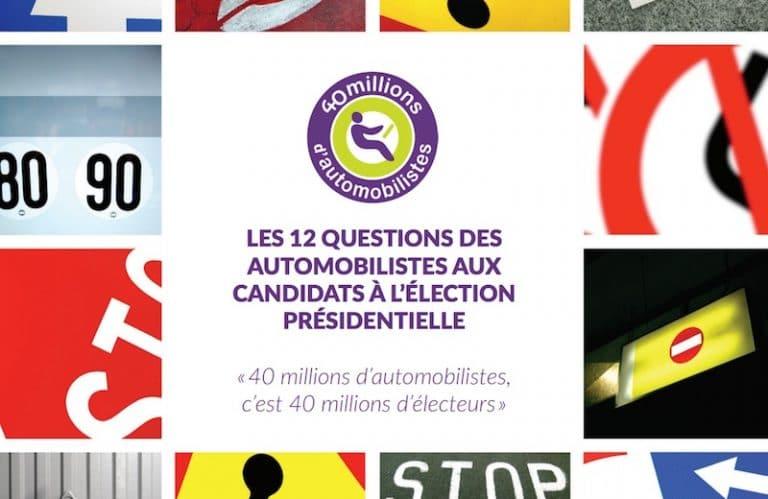 40 millions d'automobilistes interpelle les candidats à l'élection présidentielle