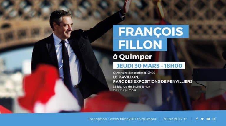 Quimper. François Fillon (LR) en meeting le 30 mars