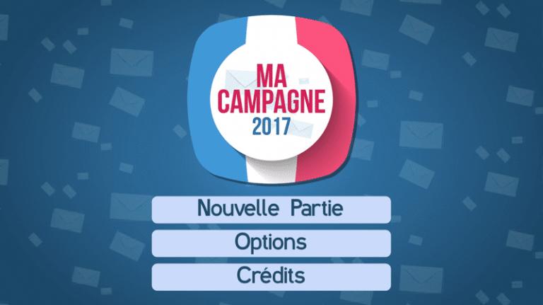 Ma campagne 2017. Une application ludique pour tenter de devenir président