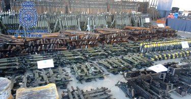 Saisie Armes de guerre en Espagne Europol
