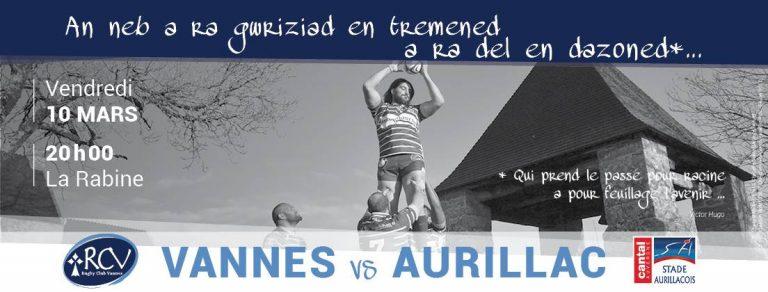 Rugby. Le RC Vannes à l'assaut d'Aurillac, pour ne pas mourir !
