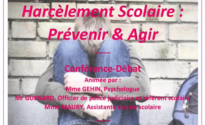 Guérande. Une conférence sur le harcèlement scolaire pour les parents d'élèves