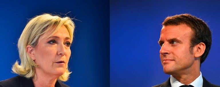 Election présidentielle. Les premières estimations donnent Emmanuel Macron et Marine Le Pen