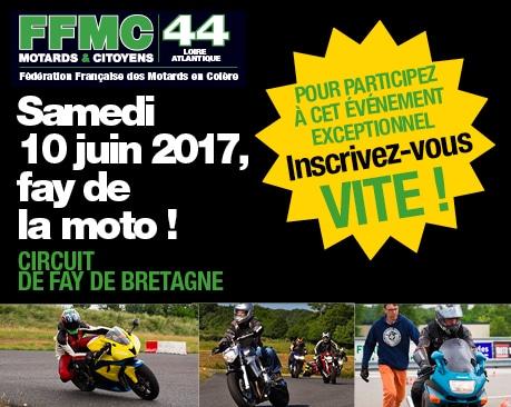 A la découverte de la moto de circuit avec Les Motards en Colère à Fay-de-Bretagne (44)