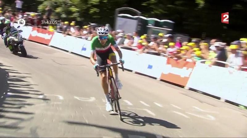 Le coup de coude de Froome sur Aru — Tour de France