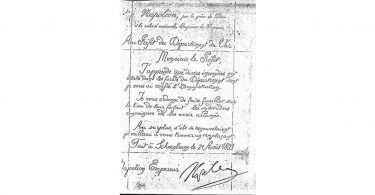 Lettre Napoléon Faux Fake