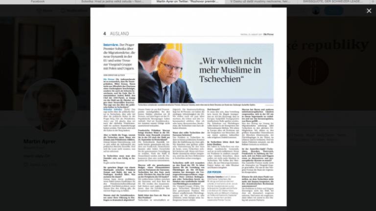 La République Tchèque ne veut plus accueillir de musulmans