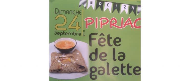 Pipriac (35). Fête de la galette le 24 septembre