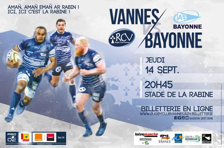 Rugby. Le RC Vannes affronte Bayonne ce soir à La Rabine