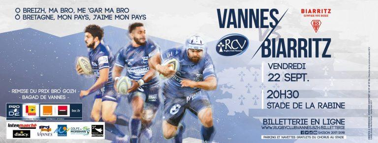 Rugby. Le RC Vannes attend Biarritz sereinement