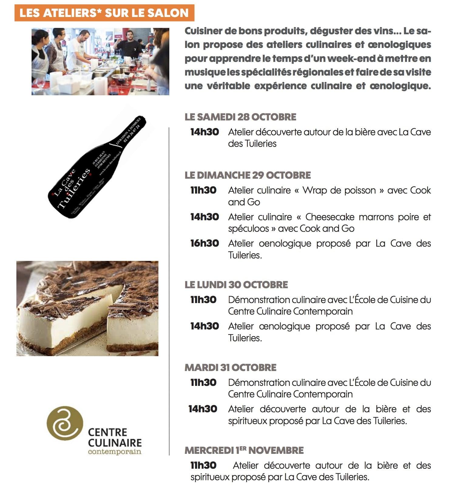 28 octobre 1er novembre salon des vins et de la for Salon du vin rennes