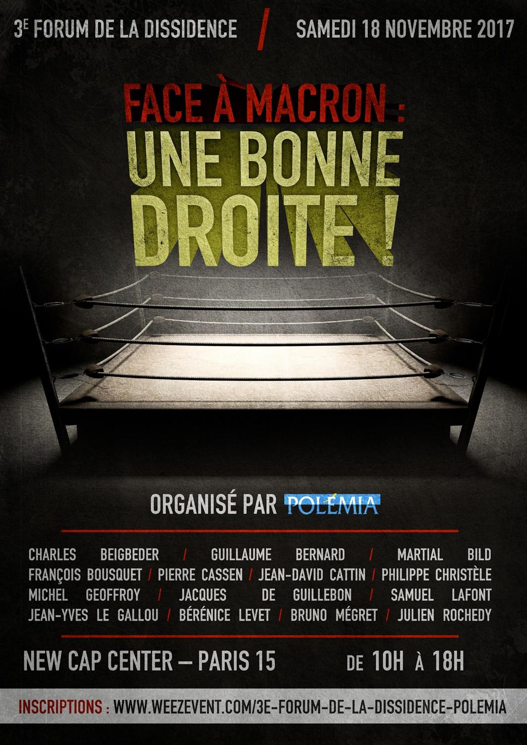 Polémia Forum de la Dissidence Macron Droite