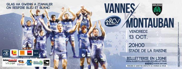Rugby. Le RC Vannes face à la forteresse Montauban