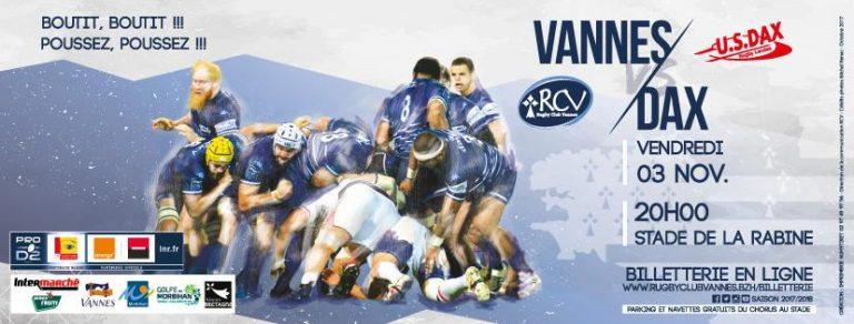 RC Vannes – Dax : défaite interdite pour le XV de Bretagne