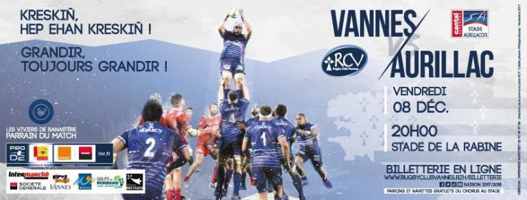 Rugby. RC Vannes – Aurillac : 4 points sinon rien