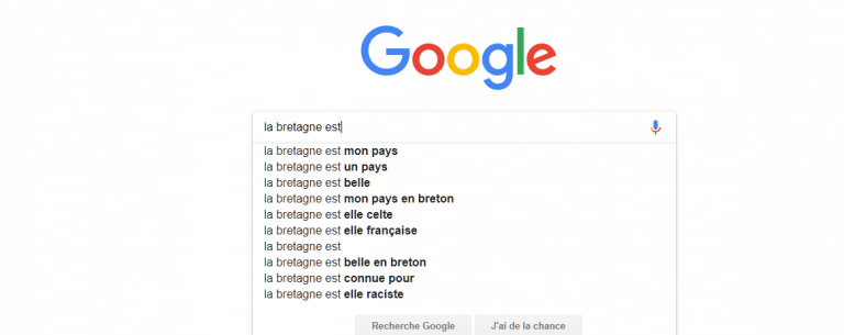 La Bretagne et les Bretons vus de Google