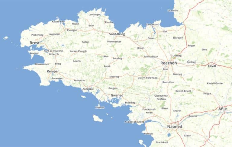 OpenStreetMap e brezhoneg : l'alternative bretonne à Google Maps