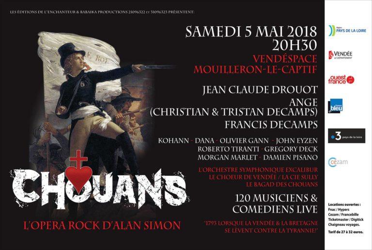 Chouans. Le nouvel opéra rock d'Alan Simon