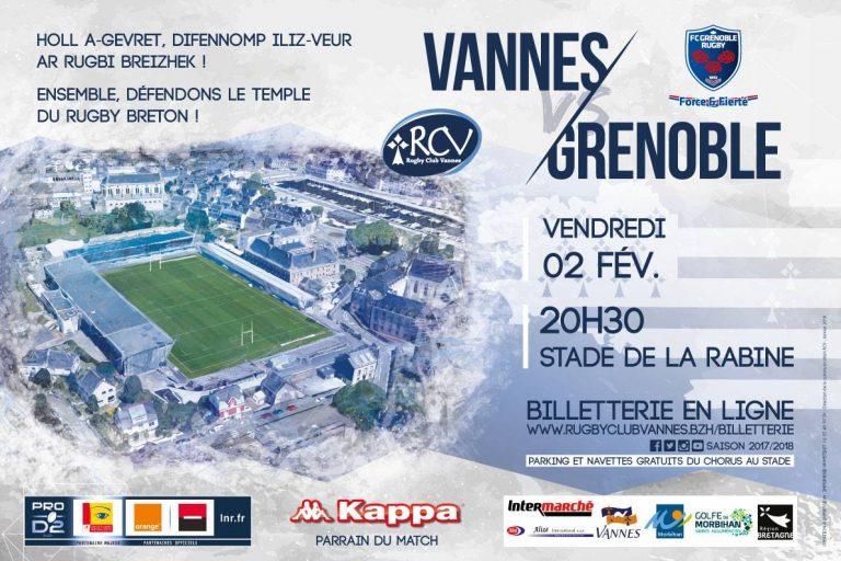 Rugby. RC Vannes – Grenoble : une nouvelle défaite interdite