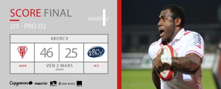 Défait à Biarritz (46-25) le RC Vannes aura chaud aux fesses jusqu'au bout