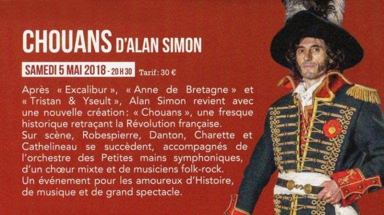Alan Simon et son équipe ont présenté l'opéra-rock « Chouans »