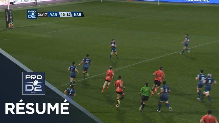 Rugby. Le résumé de Vannes-Narbonne en vidéo