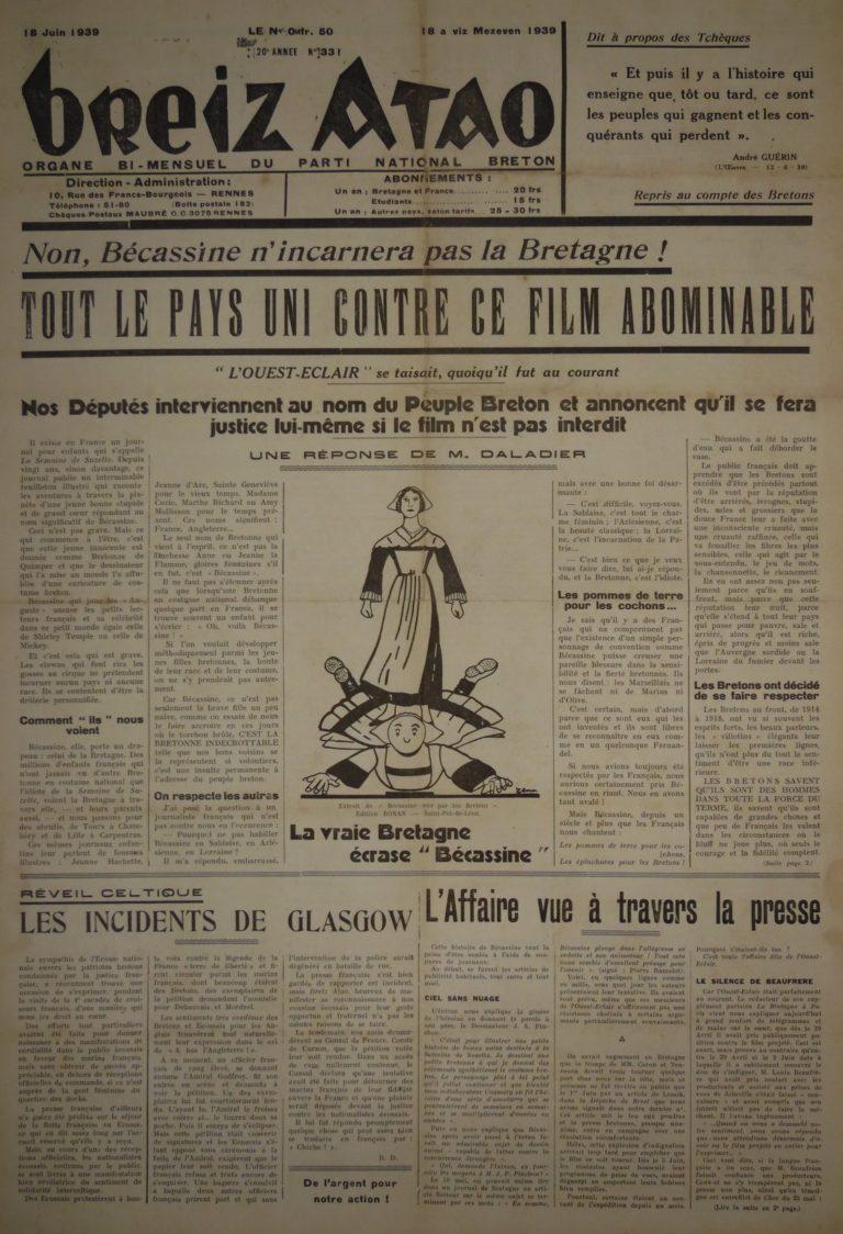 Deux rassemblements à Brest et à Rennes contre Bécassine
