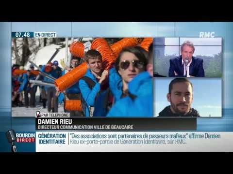 Damien Rieu / Bourdin : «54% des Français veulent le départ d'un grand nombre d'immigrés.»