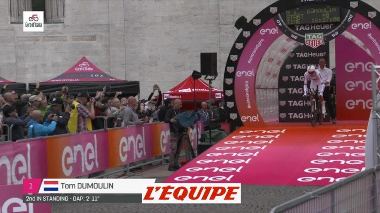 Tour d'Italie 2018. Tom Dumoulin se rapproche de Simon Yates