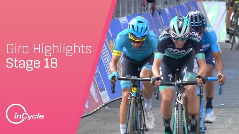 18ème étape du Giro 2018. Tom Dumoulin revient