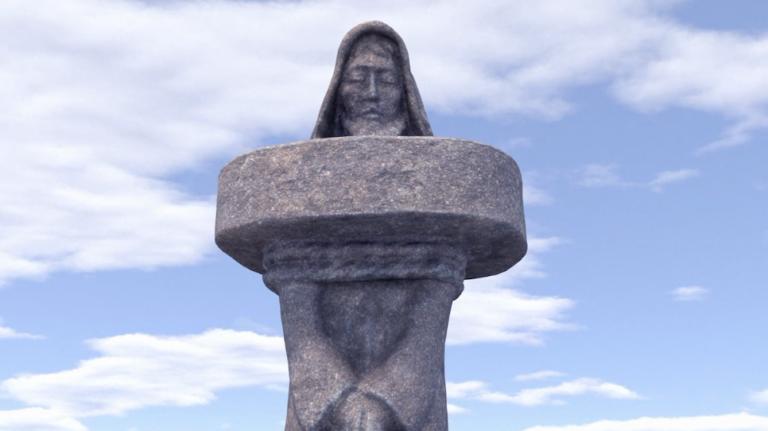 La 100è statue monumentale de la Vallée des Saints accueillie à Paimpol samedi 12 mai