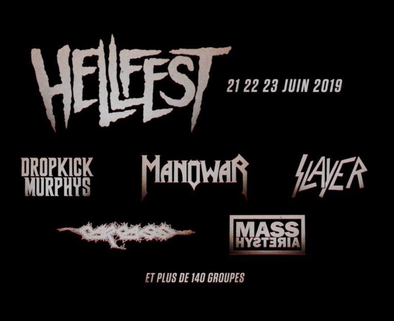 Hellfest 2019 :  Manowar, Carcass, Mass Hysteria, Slayer, Dropckick Murphys déja annoncés