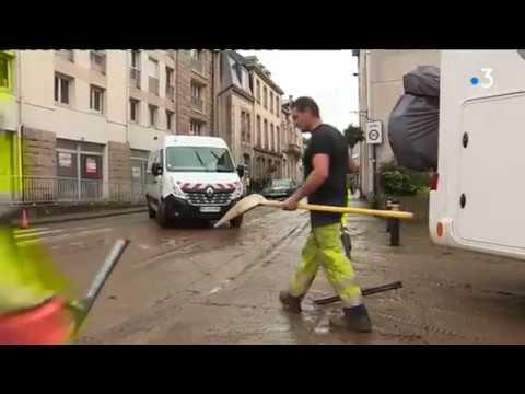 Morlaix : Le grand nettoyage après les inondations [Vidéo]