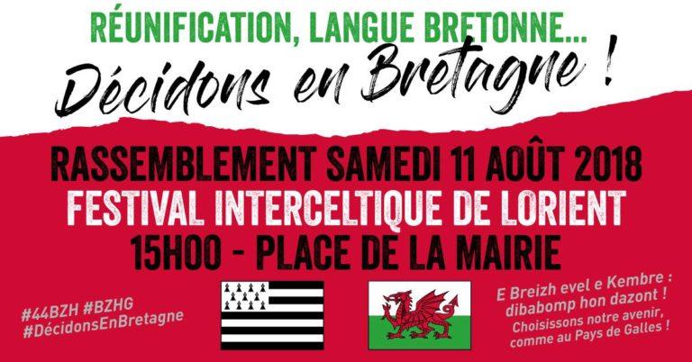 Lorient. Une manifestation pour la réunification et la langue bretonne durant le festival interceltique