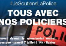 Rassemblement national et extrême gauche face-à-face devant le commissariat de Nantes
