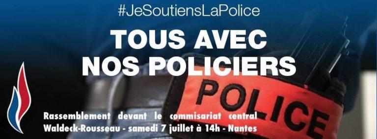 Rassemblement national et extrême gauche face-à-face devant le commissariat de Nantes [MAJ Vidéo]
