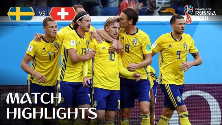 Les résumés de Suède-Suisse et d'Angleterre-Colombie en vidéo