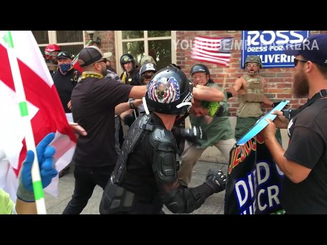 Portland (USA). Patriot Prayer affronte violemment des « antifascistes » [Vidéos]