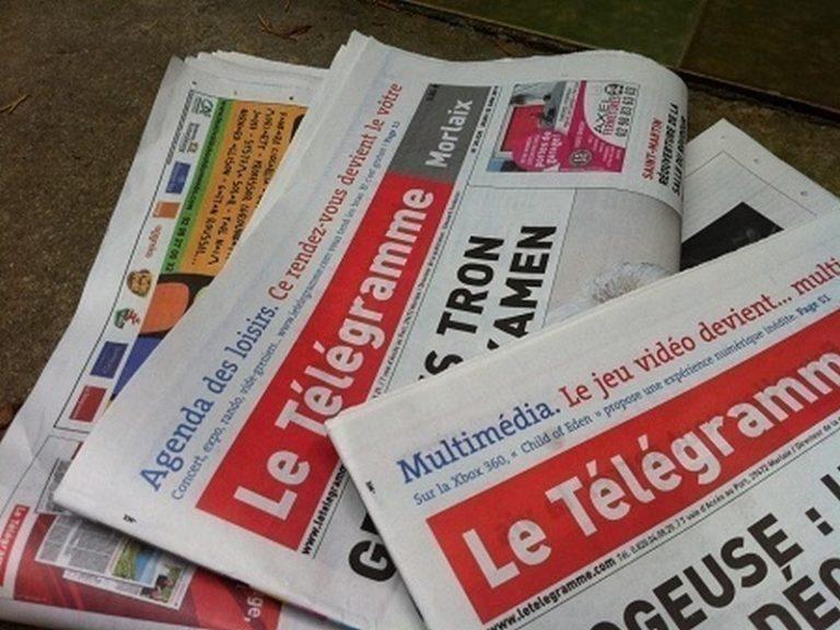 En dix ans, Le Télégramme a perdu 10 000  exemplaires