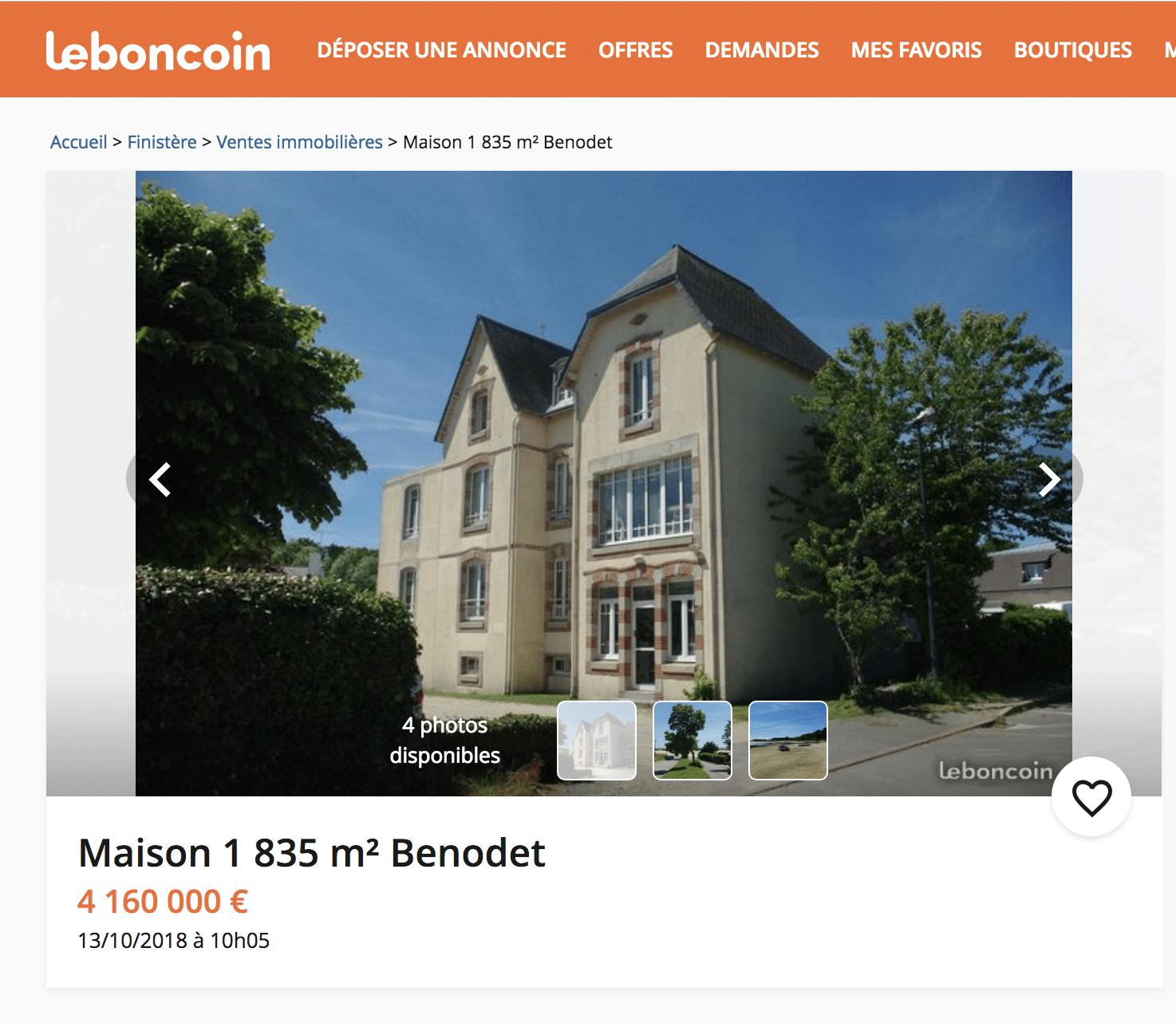 Immobilier En Bretagne Les 5 Proprietes Les Plus Cheres Sur Le Bon