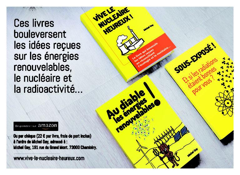 Débat sur le Nucléaire. Trois livres vivifiants de Michel Gay pour Noël !