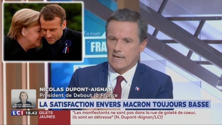 Dupont-Aignan sur Macron : «C'est le Parti de l'Étranger qui gouverne » [Vidéo]